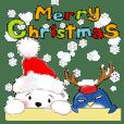 北極熊棉花球和企鵝咚咚--聖誕版017