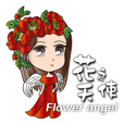 Flower angel girl