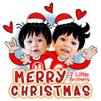 Merry Christmas with 2 Little brothers.