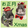 Christmas & New year mint stickers