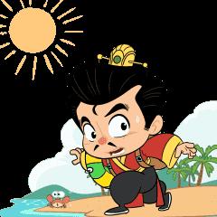 สติ๊กเกอร์ไลน์ 3KOK in Summer Paradise