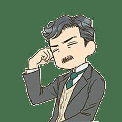 Natsume Soseki Sticker