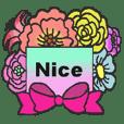 お花いっぱいスタンプ(日常会話)2