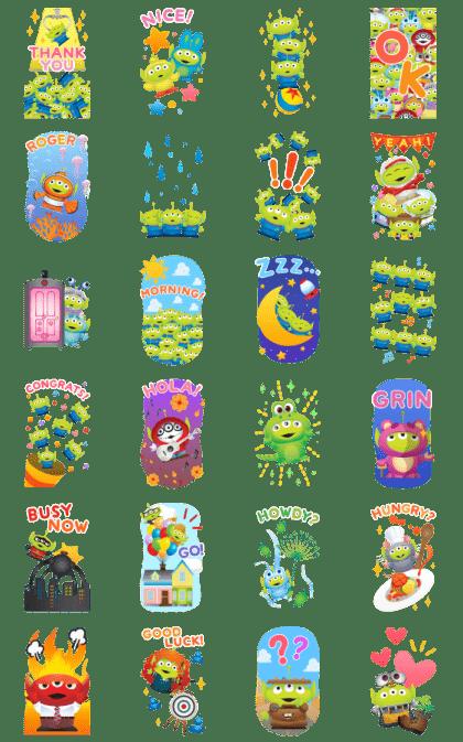 Alien Remix Big Stickers
