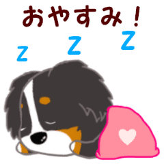 Bernese Mountain Dog Everyday Stickers Line Stickers Line Store