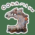 Harapeko Mr. wolf Sticker