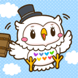 "The happy white owl ""Pochitto chan"""