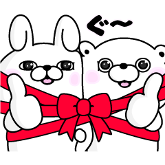 Rabbit & Bear 100%×LINE GIFT