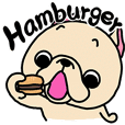 Frenchbull fast food Sticker
