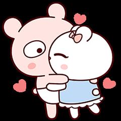 冷兔寶寶戀愛升溫 好感貼圖