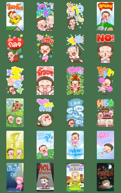 NomYen & HuaKrien Big Stickers