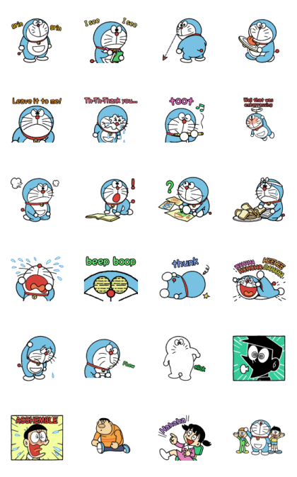 Doraemon Round and Animated