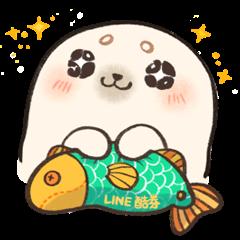 LINE Giftshop × Baby seal A-SHU