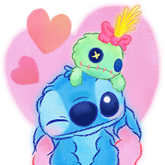 Stitch Big Stickers (Cuddly)