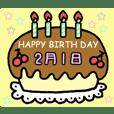 Birthday cake (February)