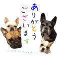French bulldog friends sticker3