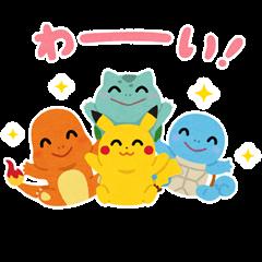 Irasutoya × Pokémon Pika Pika Stickers