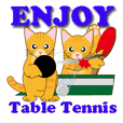 Table Tennis scene for CAT Sticker