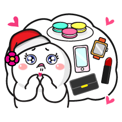 baby s christmas gift stickers line stickers line store