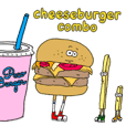 Mr.big hamburgerのスタンプ