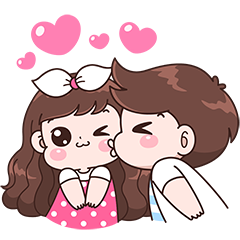 Boobie Couple Effect Stickers