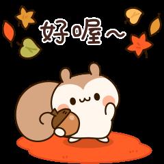 秋天的松鼠君