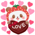 Love love sweet Strawberry panda
