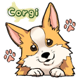Welsh Corgi cute sticker.