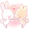 Rabbit & Bear's love Sticker Bear ver.2