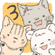Bear,cat and wolf sticker 3