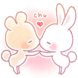 Rabbit &Bear's love Sticker Rabbit ver.2