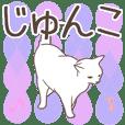 Junko name sticker3