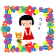 Adult cute colorful girls' sticker