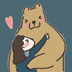 咻咻熊與小女孩(情侶對話篇)