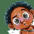 Batah little boy funny face design