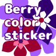 Berry color sticker english ver
