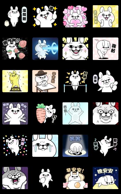 YOSISTAMP-Rabbit 100% Pop-Up Stickers