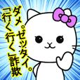 Stern cat lady
