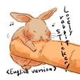 Lovely rabbit sticker!<English version>