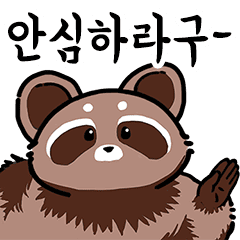 Racoonmans Do Not Worry Line Stickers Line Store