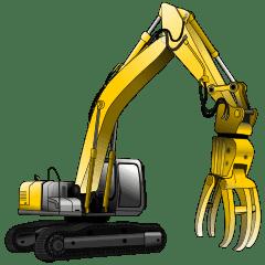 重型機械,建築機械和建築招牌