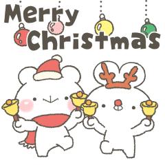 緩緩×甜心♡迷你熊兔寶 聖誕貼圖