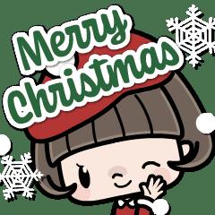 會說話的鮑伯頭女孩8 快樂的新年聖誕貼圖