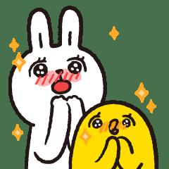 Lazy Rabbit & Mr.Chu X'mas Stickers
