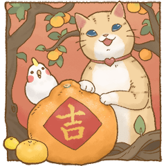 貓咪日和賀年大貼圖