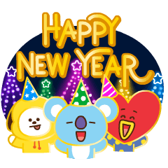 BT21 New Year's Animated Stickers