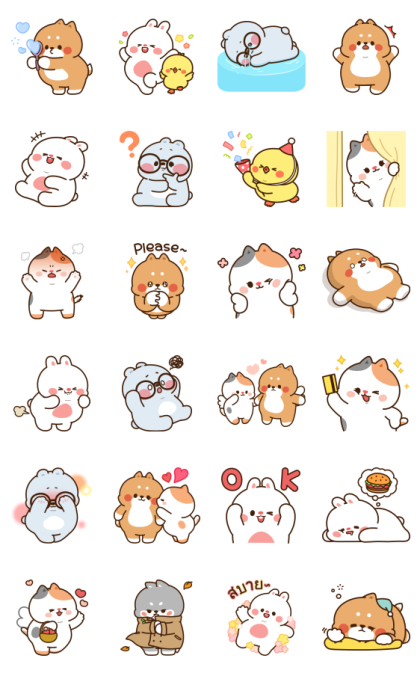 Tonton Friends: Effect Stickers