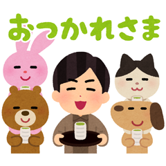 Irasutoya×Hiroshi Kamiya Voice Stickers