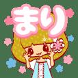 Cute girl stamp used by Mari BOB