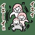 Ichiko,Nitaro,Mochico sticker
